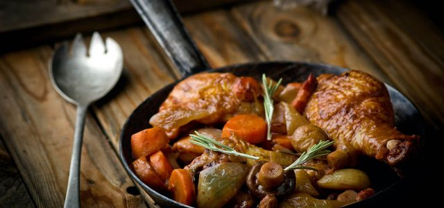 Recept på Coq au Vin med kyckling